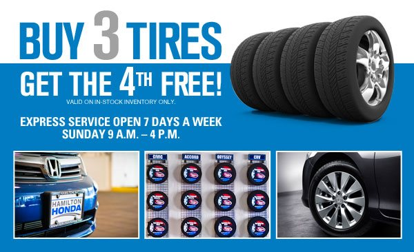 Buy 3 Get 1 Free Tires >> Tires For Your Honda