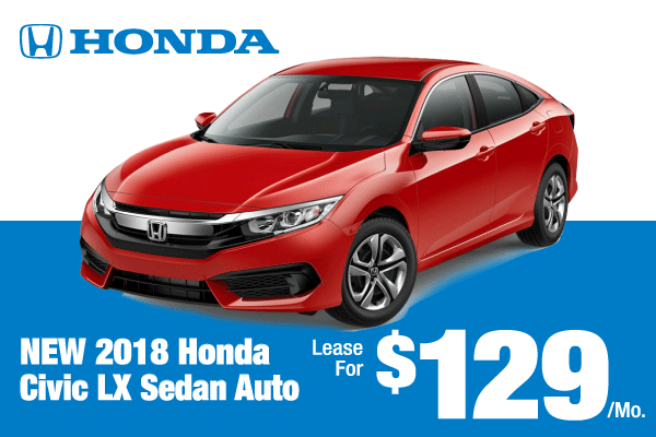 New 2018 Civic LX Sedan Auto